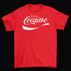 Coca Cola Enjoy Cocaine T-Shirt Funny Adult Humor Brand New CocaCola Logo $14.95  on eBay
