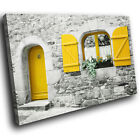 SC823 vintage photo window yellow Scenic Wall Art Picture Large Canvas Print