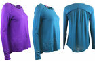White Stuff Domingo long Sleeved Casual Tee Top 8 10 12 14 16 18 Teal Purple