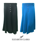LADIES DESIGNER A-LINE JERSEY TOUCH SKIRT 29 INCH LENGTH ELASTIC UK SIZES 12-22