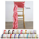 Внешний вид - 5PCS Chiffon Curly Chair Sashes For Catering Wedding Party Decorations