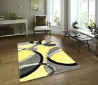 Thick Quality Modern Carved Rugs Runner Small Extra Large Soft Mat Cheap Yellow