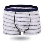 Breathable Striped Men's Underwears Cotton Bamboo Fiber Boxers Male Shorts new