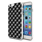 For Various Phones Design Hard Back Case Cover Skin - 3D Grey Cubes
