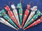 CHOCOLATE UMBRELLA/S CHRISTMAS TREE DECORATION/S/TABLE FAVOURS/DINNER/XMAS/GIFT
