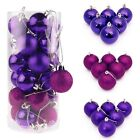 48X Christmas Tree 30MM Balls Decoration Baubles Party Wedding Hang O