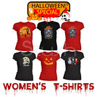 Halloween Special Spooky Scary Happy Fancy Dress Womens Cotton T-Shirt