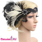 1920s Headband 20s Feather Bridal 20s Great Gatsby Flapper Headpiece Gangster