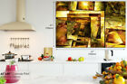 AB547 Yellow Modern Grunge Abstract Canvas Wall Art Framed Picture Print