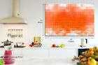 AB893 Orange Geometric Gradient Abstract Canvas Wall Art Framed Picture Print