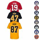 NHL Reebok Official Premier Team Color Player Name & Number Jersey T-Shirt Men's $11.99 USD on eBay