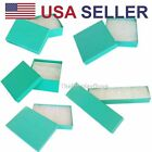 100 pcs Teal Green Cotton Filled Jewelry Gift Boxes With Variety Of Sizes