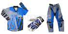New Wulfsport Blue Kids Youth Motocross Pant Jersy Gloves Bundle Kit Child PW