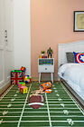 Football Field Ground Kids Play Area Rug Anti Skid Rubber Backing - 700