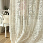 country style drapes - 1 PC Greece Country Style Crochet Lace Curtain Panel Drape 100% Cotton