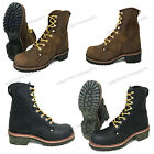 Mens Logger Boots Leather 10