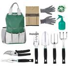 10 Sets Garden Hand Tools, Gardening Fun Durable, Heavy Duty Tools Set 2 Colors