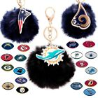 Officially Licensed NFL Faux Fur Pom Bag Charm and Keychain by Cuce 495906-J $15.95 USD on eBay