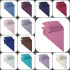 """Non Iron Percale Extra Deep Fitted Sheets 16""""/40CM Pair of Pillowcase 4 Sizes image"""