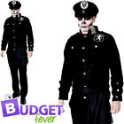 Zombie Police Officer Mens Fancy Dress Undead Cop Skeleton Adults Costume Outfit