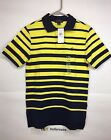 Polo Ralph Lauren Boys Striped Tennis Tail Short Sleeve Polo Shirt Size L