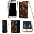 for iphone 5 case 360° shockproof cover -keen marble