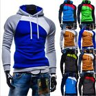 Men Stitching Pullover Outerwear Casul Jacket Fleece Fight Hoodie Sweatshirt