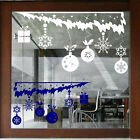 CHRISTMAS  WALL STICKERS XMAS Shop Window Stickers XMAS BAUBLES STICKERS NN102