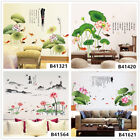 Lotus Carp Scenery Home Room Decor Removable Wall Stickers Decals Decorations