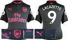 17 / 18 - PUMA ; ARSENAL 3RD KIT SHIRT SS + PATCHES / LACAZETTE 9 = KIDS