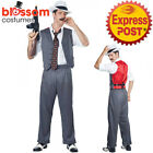 CA468 Mens Mobster Costume Gangster Chicago Fancy Dress Mafia 1920s Al Capone