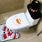 Christmas Toilet Seat Cover Rug Bathroom Set Pad Water Tank Cover Paper 3PCS Fei