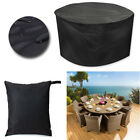 Round Garden Patio Furniture Sets Uv/snow Rain Covers Rattan Tables Cube Outdoor
