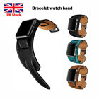 Replacement Bracelet Strap Leather Watch Band Buckle For Apple Watch 38mm 42mm U