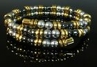 Gold Magnetic Hematite Necklace Bracelet High Power Healing IPG
