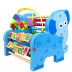 Educational Toy Wooden Game Beads Round Maze Animal Toy Maths Fruit Learning Toy