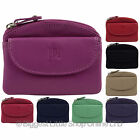 NEW Mens Ladies Quality LEATHER COIN PURSE from PRIME HIDE 6 Colours Keyring