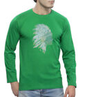 Clifton Men's Printed Full Sleeve R-Neck T-Shirt-Dark Green-Tribe-1