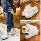 X-mas Gift Women's Leather Furs Casual Lace Up Sneakers Trainers Shoes Superstar