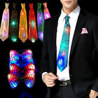 Female Male Sequins LED Neck tie Light Up Bow Tie Blinking Ties Christmas Gifts