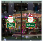 DIY Christmas Holiday Stickers Snowflake Snowman Glass Sticker Home Decoration