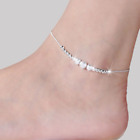 Womens Anklet Bracelet Silver Gold Plated Ankle Foot Chain Beach Beads Xmas Gift