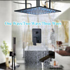 "20"" LED Shower Faucet Ceiling Mounted Hand Spray Massage Jets Shower System"