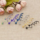 1pc Women Twist Spiral Barbell Industrial Earring Belly Navel Ring Jewelry Gift