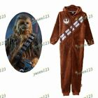 2017 Star Wars Ⅸ - Chewbacca Brown Jumpsuit Fleece Hoodie Pajamas Sleepwear