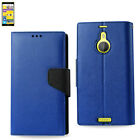 For Nokia Lumia 1520 Leather-Like 3-in-1 Flip Folio Wallet Case w/ Folding Stand