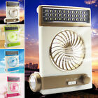 Solar Power/AC Rechageable 2in1 Camping Cool Fan Light Tent LED Lantern Cooler T