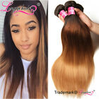 Malaysian Straight Hair Weave 1-3 Bundles 100% Human Hair Extensions Ombre Weave