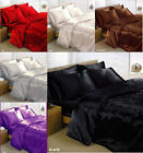 New Charisma Satin 4/6pc Bedding Duvet Cover Set Size & Colour Choice FREE P&P