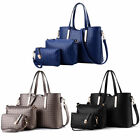 3pcs Women Leather Shoulder Messenger Purse Handbag Crossbody Satchel Tote Bag